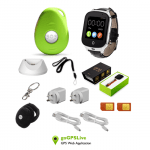 Combo watch and locator pack